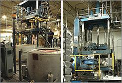 Low pressure casting image.
